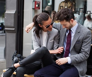 couple, fashion, and style image