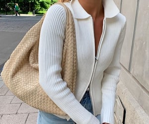 beige, bottega veneta, and clothes image
