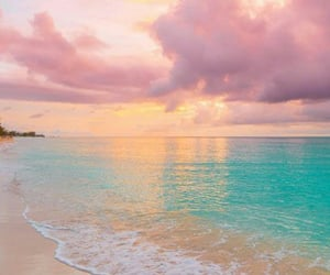 beach, clouds, and travel image