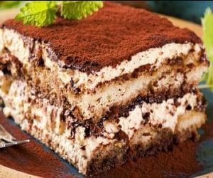 tiramisu, cake, and dessert image