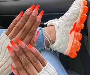 nails, blue, and shoes image