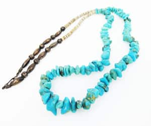 1980s, boho, and beaded necklace image