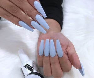 blue, cool, and nails image