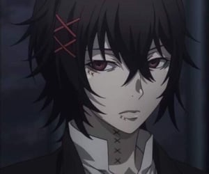 black and white, anime boy, and tokyo ghoul image
