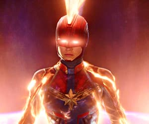 gif, captain marvel, and Marvel image