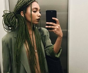 braids, natural hair, and box braids image