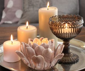 candle, flower, and home decor image