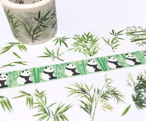 bamboo, masking tape, and green image