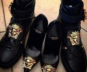 Versace, shoes, and black image