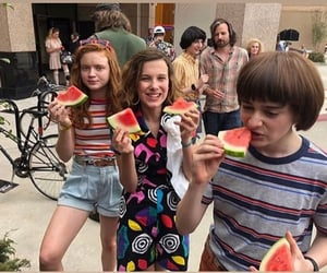 stranger things, millie bobby brown, and sadie sink image