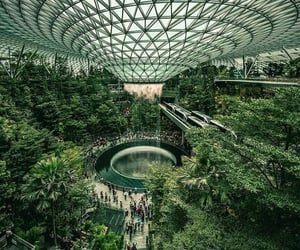 singapore, travel, and architecture image