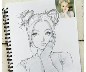 drawing and girl sketch image