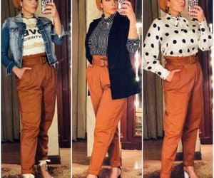 high waisted pants, dressy pants, and bow pants image