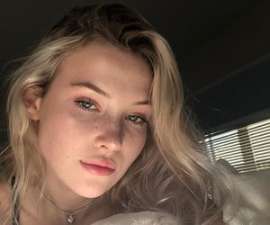 angel, blonde, and beauty image