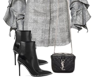 boots, grey, and studded image