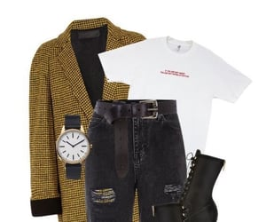boots, watch, and coat image