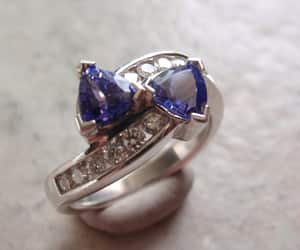 etsy, sterling silver, and tanzanite ring image