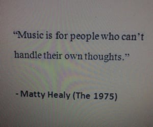 music, quotes, and the 1975 image