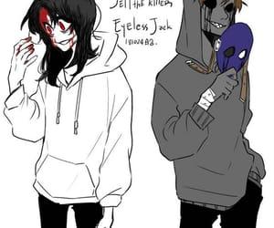 creepypasta, eyeless jack, and jeff the killer image