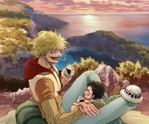 corazon, one piece, and Law image