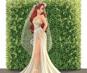 ariel, art, and princess image