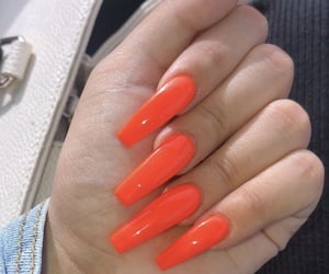 fingers, inspiration, and orange nails image