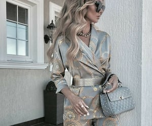 bags, blonde hair, and classy image
