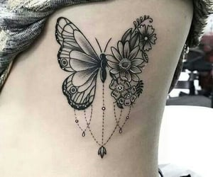 butterfly, tattoo, and ink image