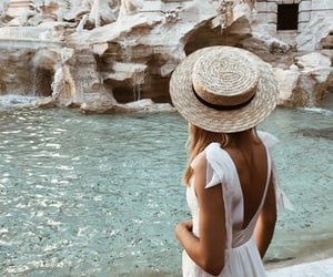 girl, hat, and italy image