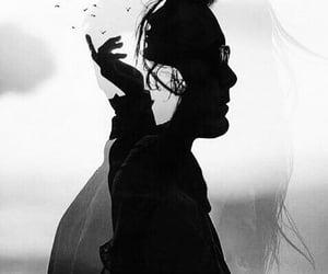 art, black&white, and men image