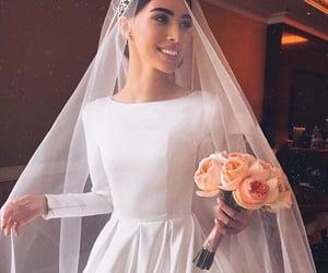 bride, dress, and makeup image