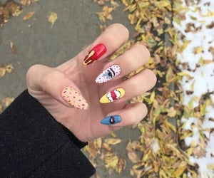girls style, nails art, and beauty makeup image