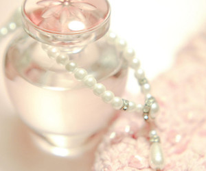 pink, perfume, and pearls image