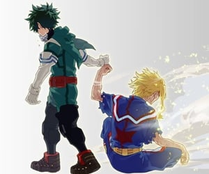 my hero academia, anime, and all might image