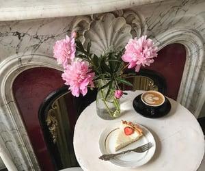 aesthetics, cheesecake, and coffee image