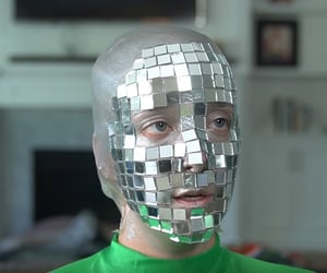 disco ball, funny, and green image