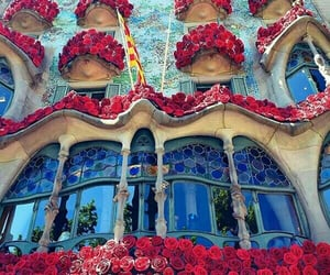Barcelona, flowers, and spain image