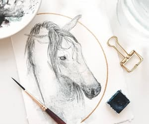 art, beautiful, and horse image