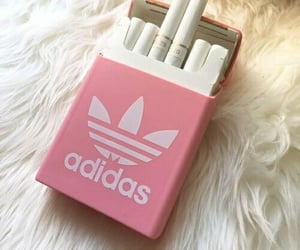 cigarettes, adidas, and cigarette image