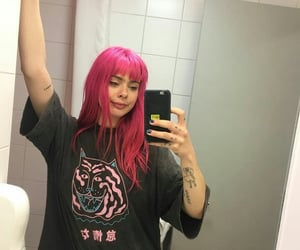 art, hair, and pink image
