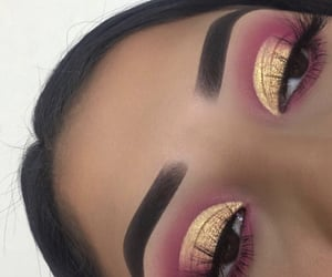 beauty, cut crease, and instagram image