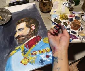painted, arta, and art image
