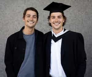 twins, finn and jack, and jack harries image