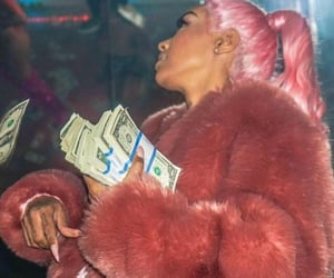 money, girl, and pink image