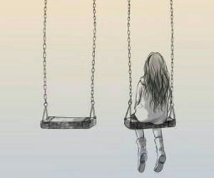 alone, lonely, and sad image