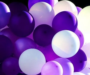 balloons, purple, and color image