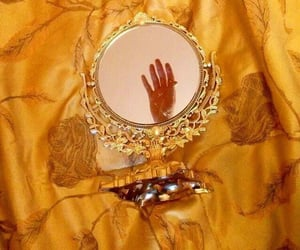 yellow, mirror, and aesthetic image