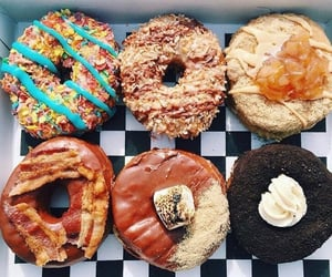 bacon, doughnuts, and chocolate image
