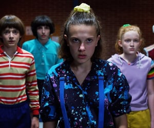stranger things, eleven, and lucas image