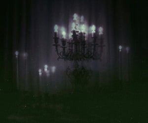 candle, dark, and spooky image